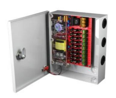 5 AMP CCTV Switching Power Supply with Enclosure