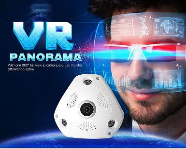 VR CAM 360 degree fisheye panoramic IP camera