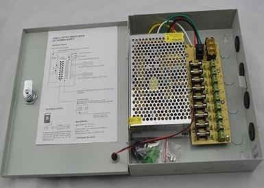 10 AMP CCTV Switching Power Supply Box with Enclosure